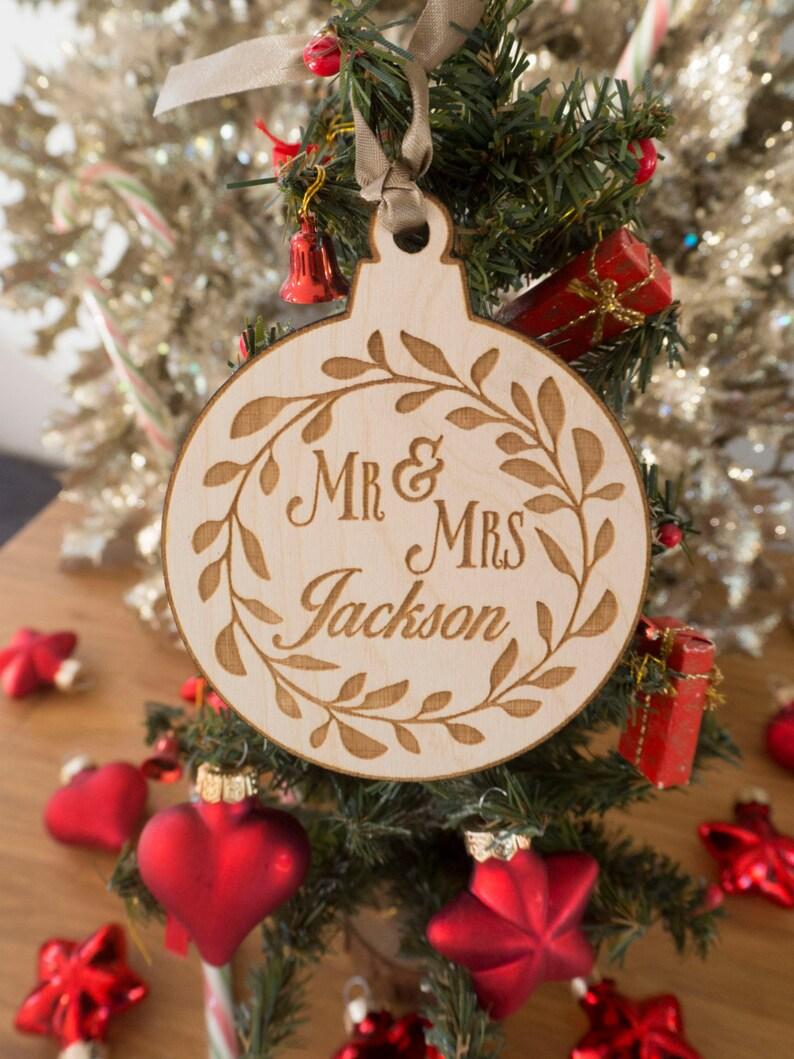 Personalized Christmas Decor.Custom Family Ornament Personalized Christmas Ornaments Christmas Decorations Christmas Decor Christmas Gift Wedding Gift