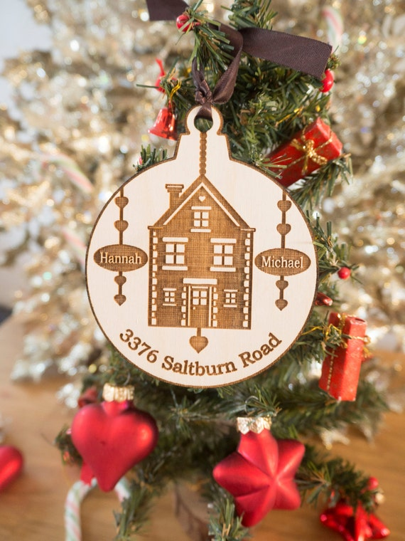 Christmas Ornaments Personalized.Custom Home Ornament Personalized Christmas Ornaments House Ornament New Home Gift Real Estate Closing Gifts Housewarming Gift