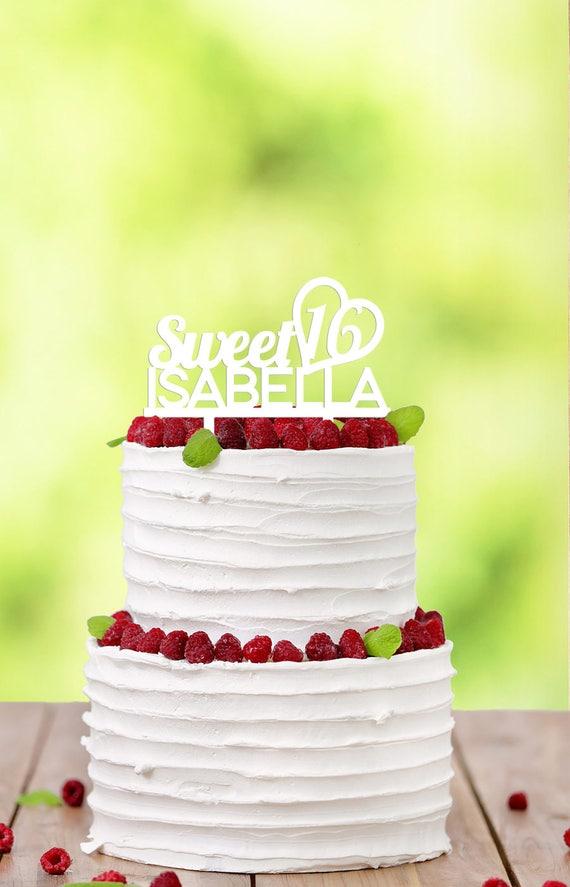 Sweet 16 Cake Topper Cake Topper Birthday Cake Topper | Etsy
