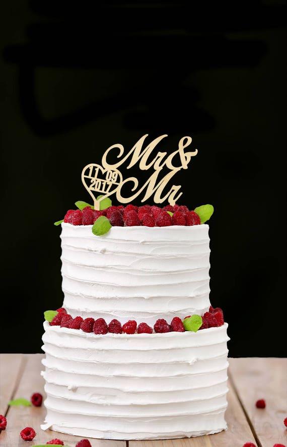 Rustikale Homosexuell Hochzeitstorte Holz Cake Topper Gay Etsy
