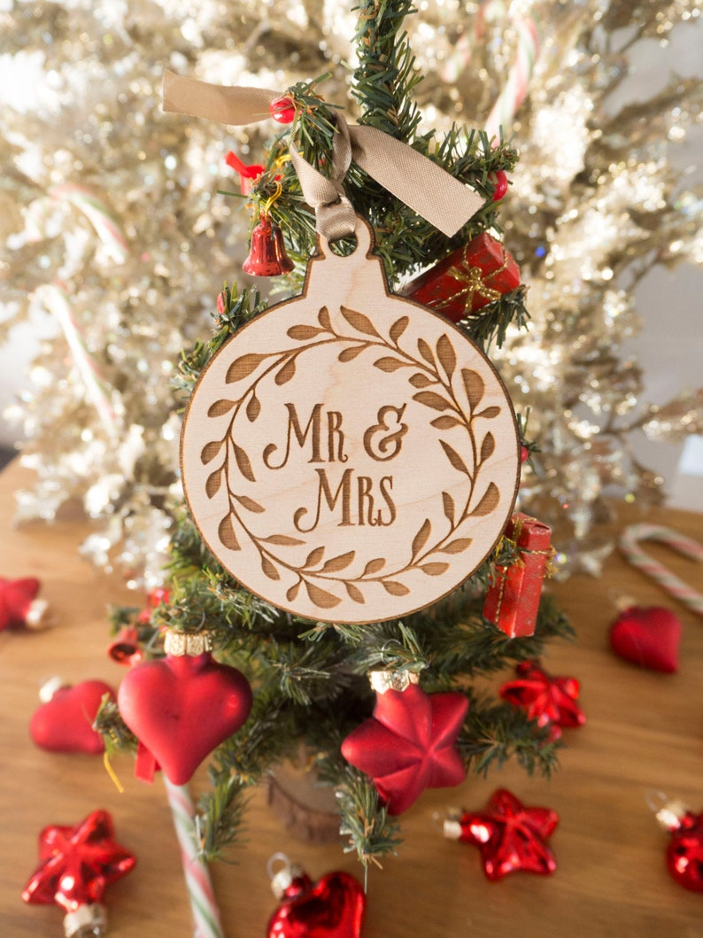 Mr Mrs Ornaments  Personalized Christmas Ornaments  image 0