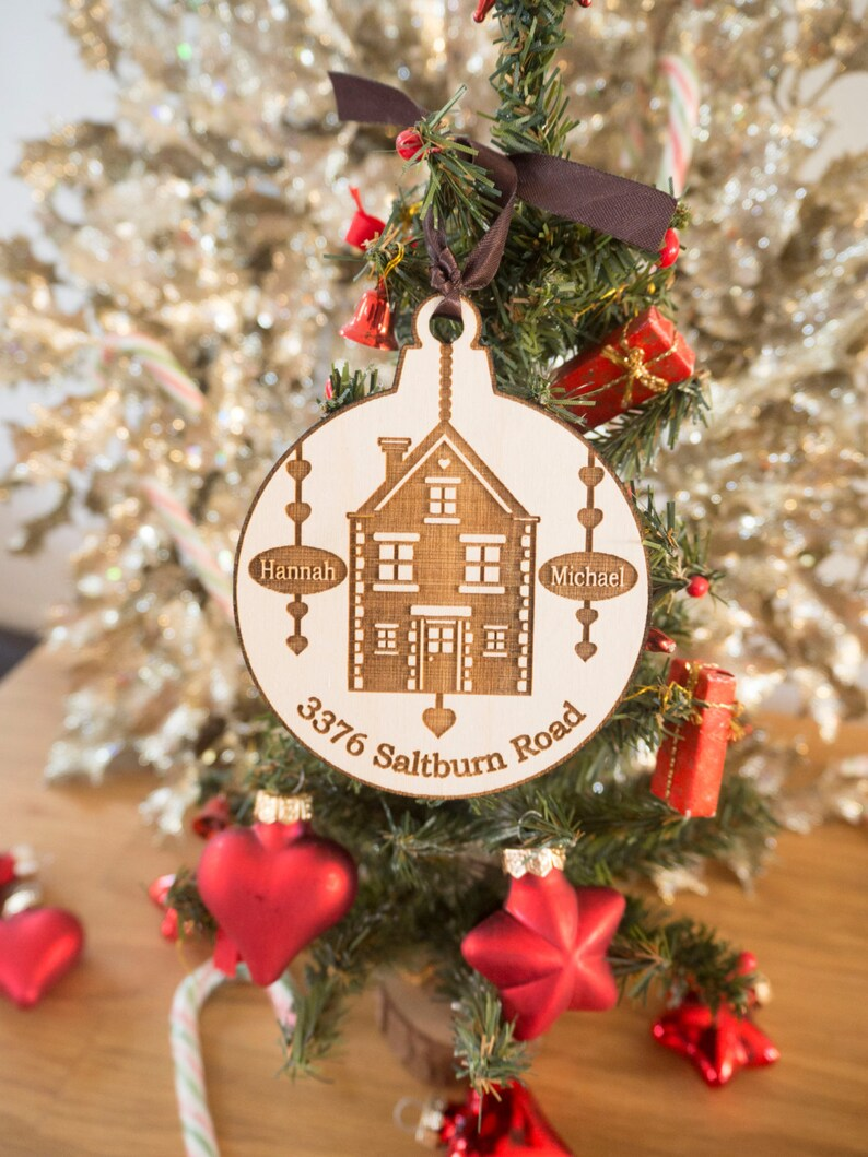 Custom Home Ornament Personalized Christmas Ornaments House Ornament New Home Gift Real Estate Closing Gifts Housewarming Gift