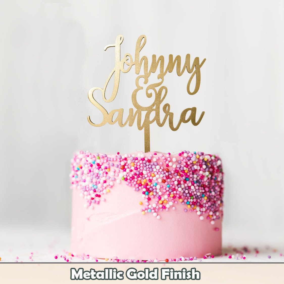 Customized Wedding Cake Topper Personalized Cake Topper for   Etsy