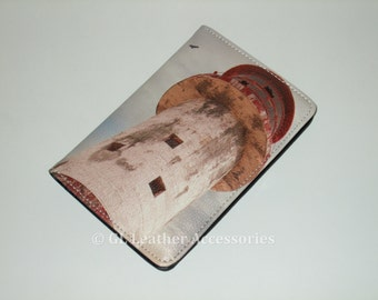 High Quality Faux Leather Passport Holder Case (Lighthouse)