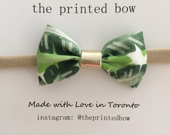 Palm Print Baby Bow headband