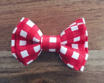 Red Check Infant Bow Tie