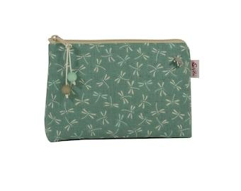 Cosmetic bag dragonflies, cosmetic bags, make-up bag, small bag for the handbag