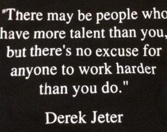 Derek Jeter Quote Etsy