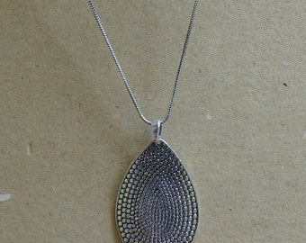 Silver Plated Pendant | Metal Jewelry | Tribal Jewelry | Fusion Pendant | Indian Jewellery | Pendant With Chain | Metal Men's Pendant | P8