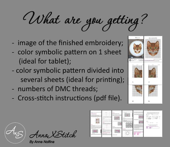 Horse Cross Stitch Pattern Pdf Geometric Animals Embroidery Etsy