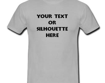 Custom Personalized T-shirt Your Text or Silhouette Printed Tee (Youth & Toddler)