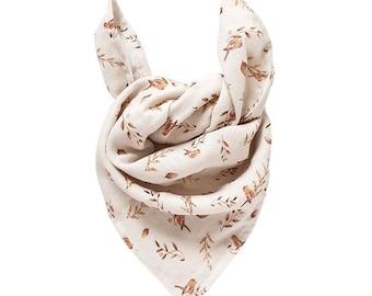 Lange Chèche scarf baby child organic cotton birds