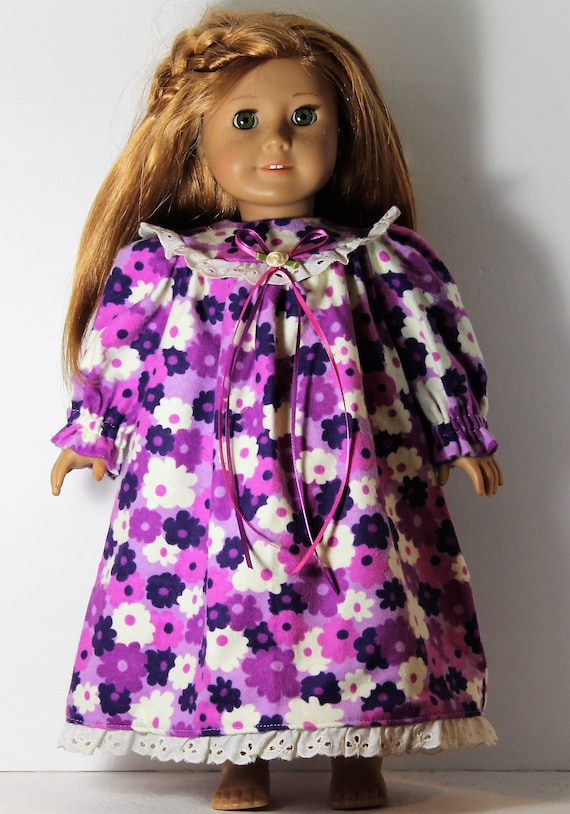 "Purple Rosette Purse Fits 18/"" American Girl Dolls"