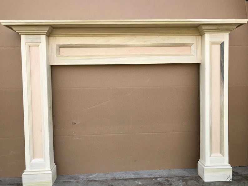 1012-Fireplace Mantel Surround Paint Grade Ready to paint image 0