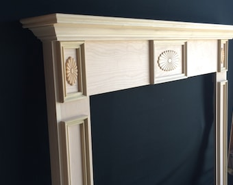 Fireplace Mantel Surround Paint Grade 48 x 42 1005A