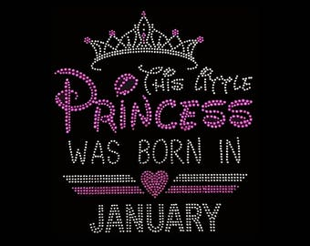 70f9e9567 Birthday, This Little Princess was born in January (8.5x7.5