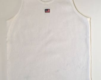 d666b518ca65a0 1990s POLO RALPH LAUREN Embroidered Logo Vintage Ribbed Tank Top    Size  Xsmall