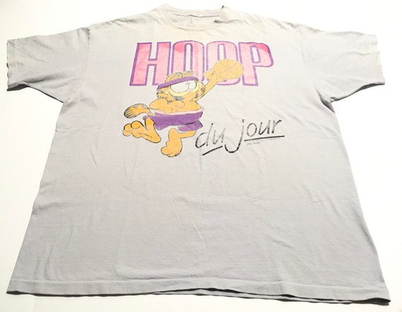 1978 GARFIELD HOOP Du Jour Single Stitch Distresse