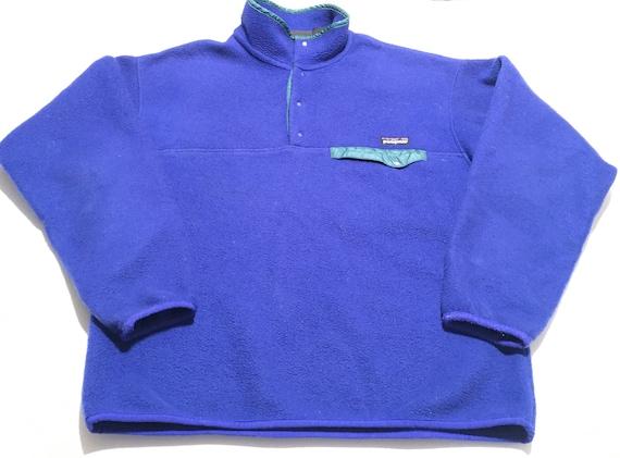 1990s PATAGONIA Snap Fleece Vintage Pullover Jacke