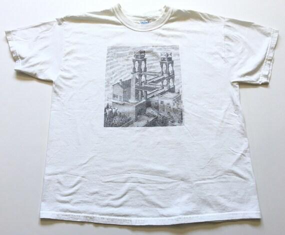 1990s MC ESCHER Thrashed Distressed Vintage T Shir