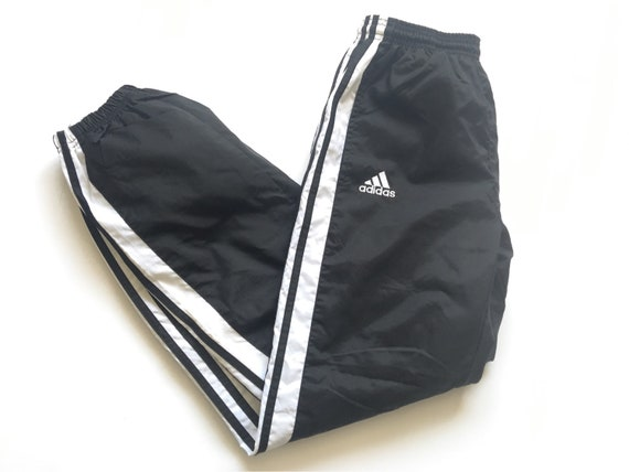 1990s ADIDAS TRIPLE STRIPED Nylon Cotton Lined Vin