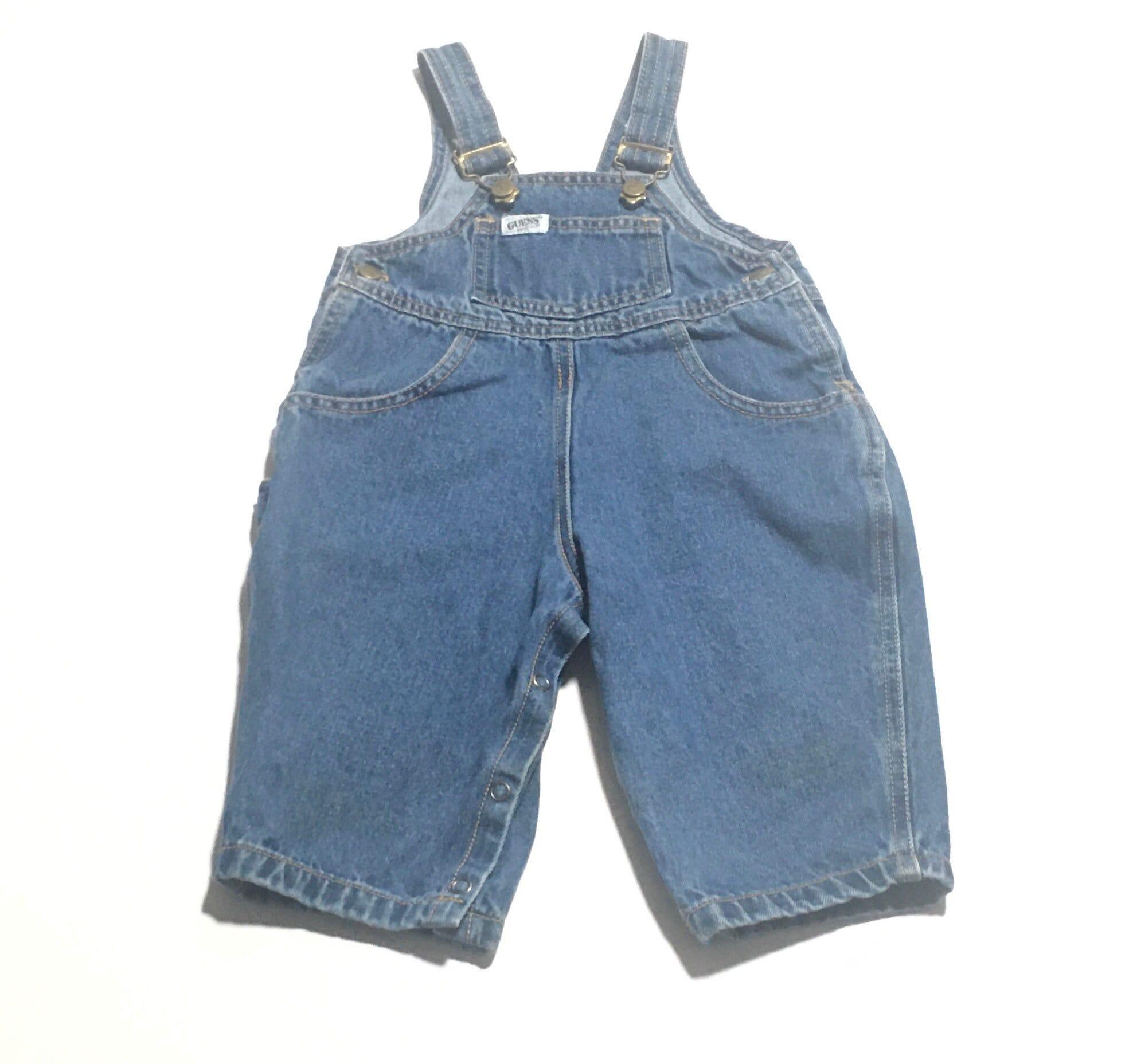 Vintage Overalls & Jumpsuits 1980S Baby Guess Vintage Denim Overalls  Size 12Months $26.75 AT vintagedancer.com