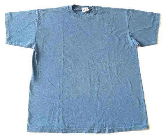 1990s STANLEY DESANTIS Blue Basic Tee // Size XLar