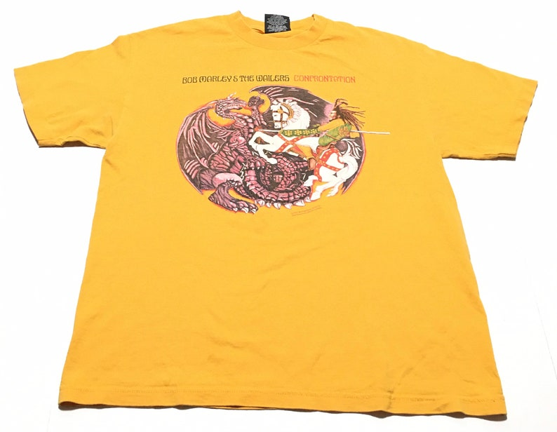 2001 BOB MARLEY /& The WAILERS Confrontation Zion Rootswear Vintage T Shirt  Size Large