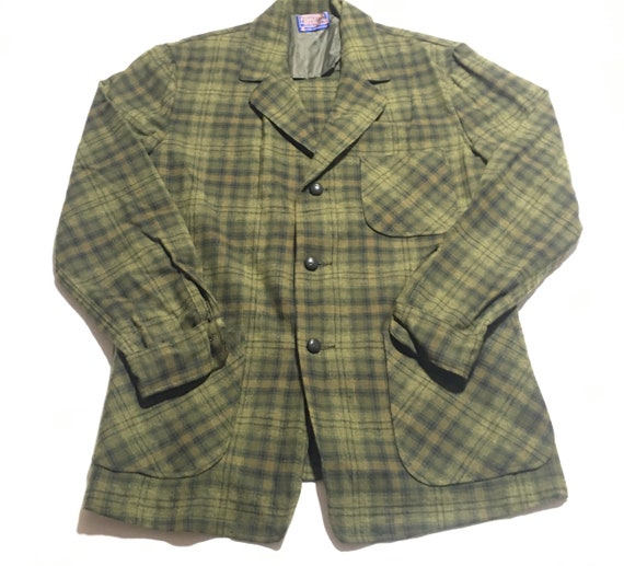 1980s PENDLETON WOOLEN MILLS Plaid Vintage Blazer