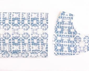 Burp cloth and bandana bib gift set -  batik print