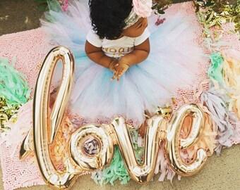 Rose Gold amour Script ballon - frais de port gratuit - 80cm script ballon décoration fête