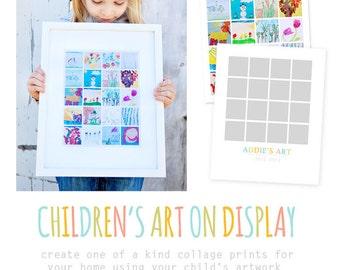 Children's Art Collage Template Set