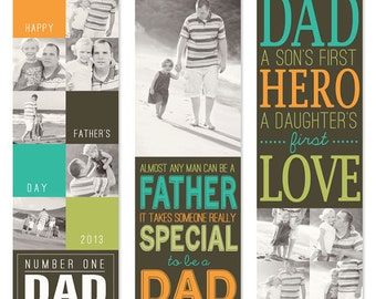 Handmade Father's Day Gift | Photo Bookmarks for Dad