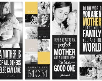 Personalized Mother's Day Photo Bookmarks for Mom