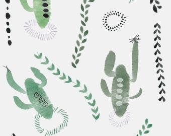 Cactus Power Illustration