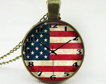 American Pendant Necklace Vintage