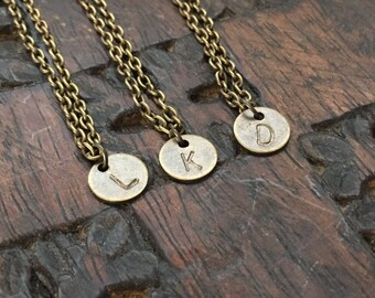 Hand-stamped Monogram Necklace
