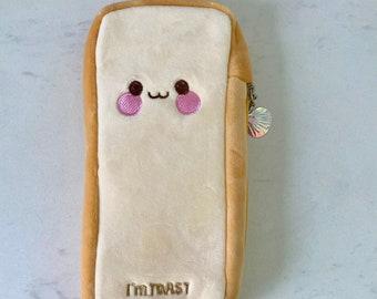 Kawaii Plush Bread Pencil Case