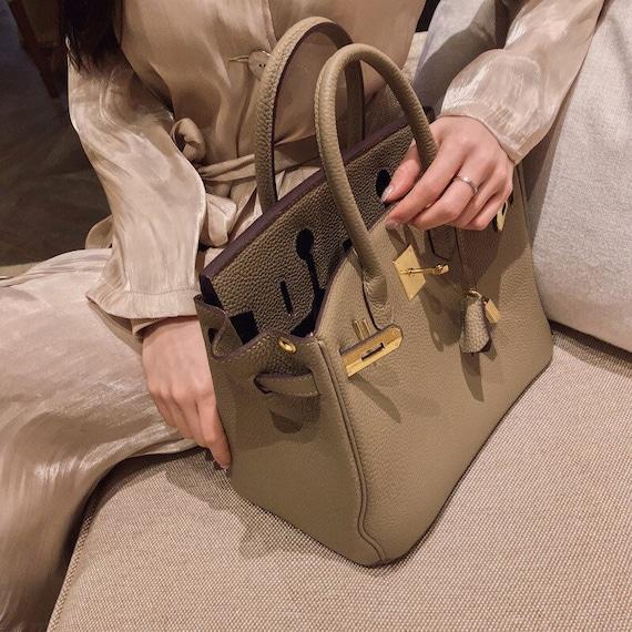 Hermes style birkin bag handcrafts leather Kelly bag/luxury Designer leather bag for women with large capacity cross-body bag