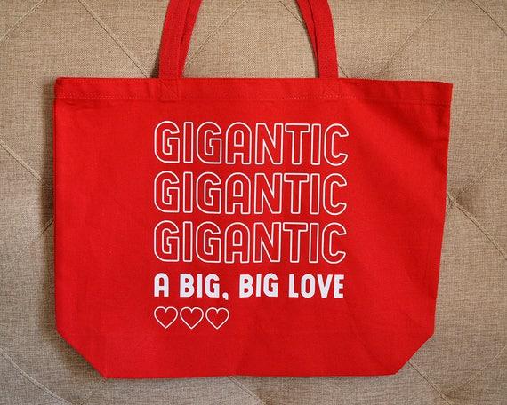 gigantic a big big love tote bag pixies lyrics gift etsy
