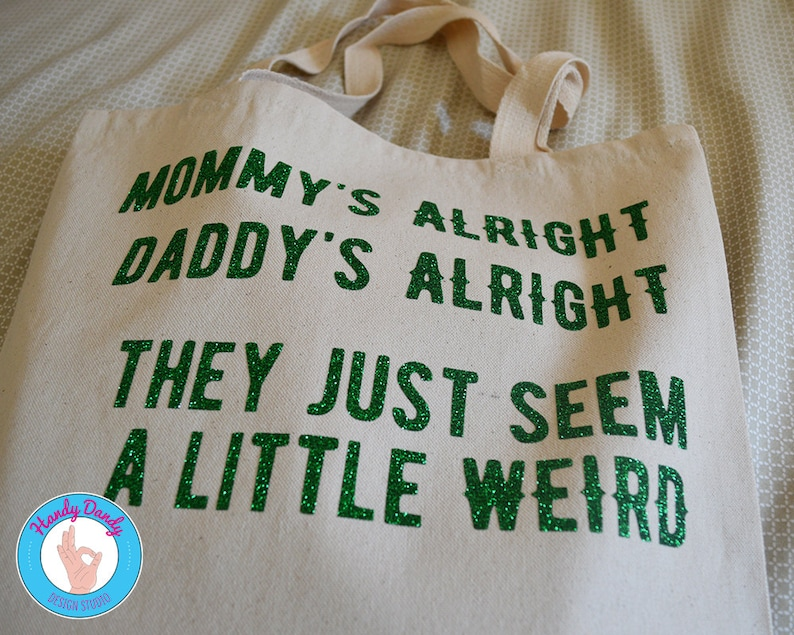 Surrender Tote Bag Funny Gift Lyrics Mom Bag Mommy/'s Alright Parents Tote Cheap Trick Canvas Tote Bag Daddy/'s Alright Music
