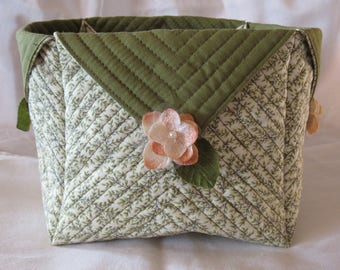 Handmade Quilted Basket #921076