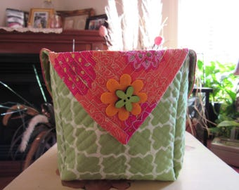Handmade Quilted Basket #920173