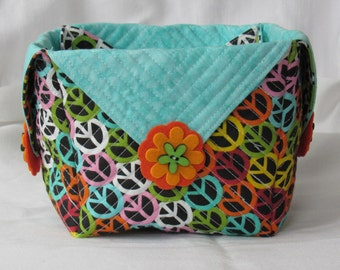 Handmade Quilted Basket #920177 (The Flower Child)