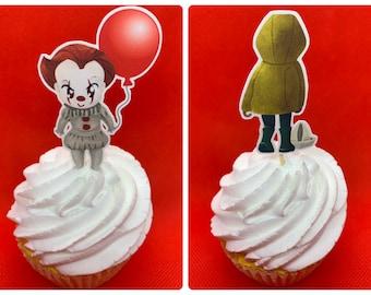 Killer Clown Cupcake Toppers
