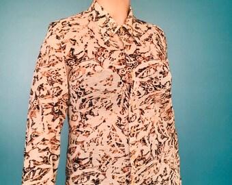 TaraLynEvansStudio 90s Silk Blouse Paisley Silk Shirt