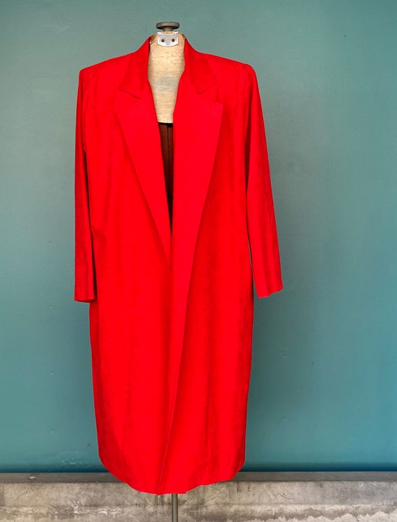 Duster Womens Duster Women Duster Coat Red Coat D… - image 4