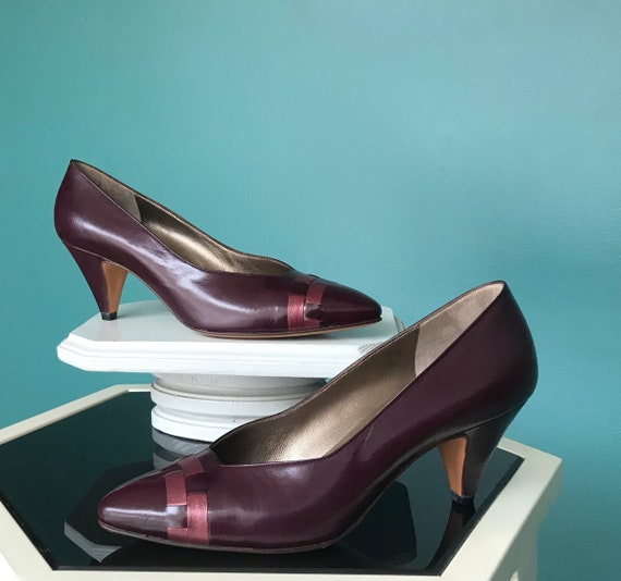 80s Bruno Magli Pumps Burgundy Pumps, TaraLynEvans