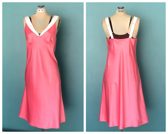 Silk Slip Dress 90s Pink Silk Slip Dress, TaraLynE