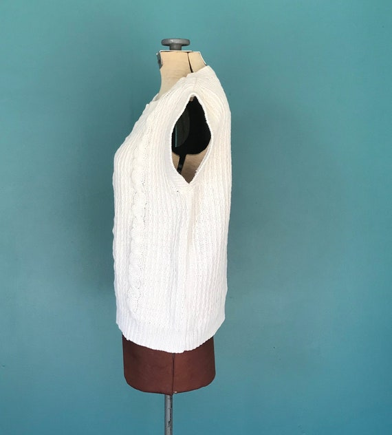 Linen Crochet Top Cable Knit Vintage Top, TaraLyn… - image 7
